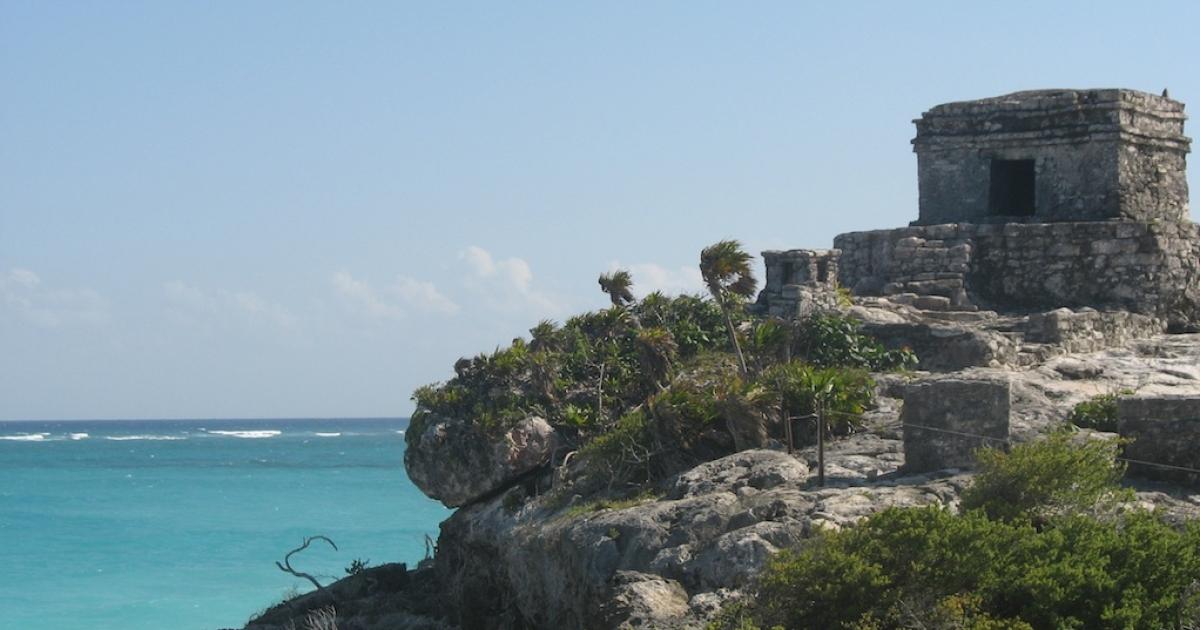 The Mayan city of Tulum.</p>