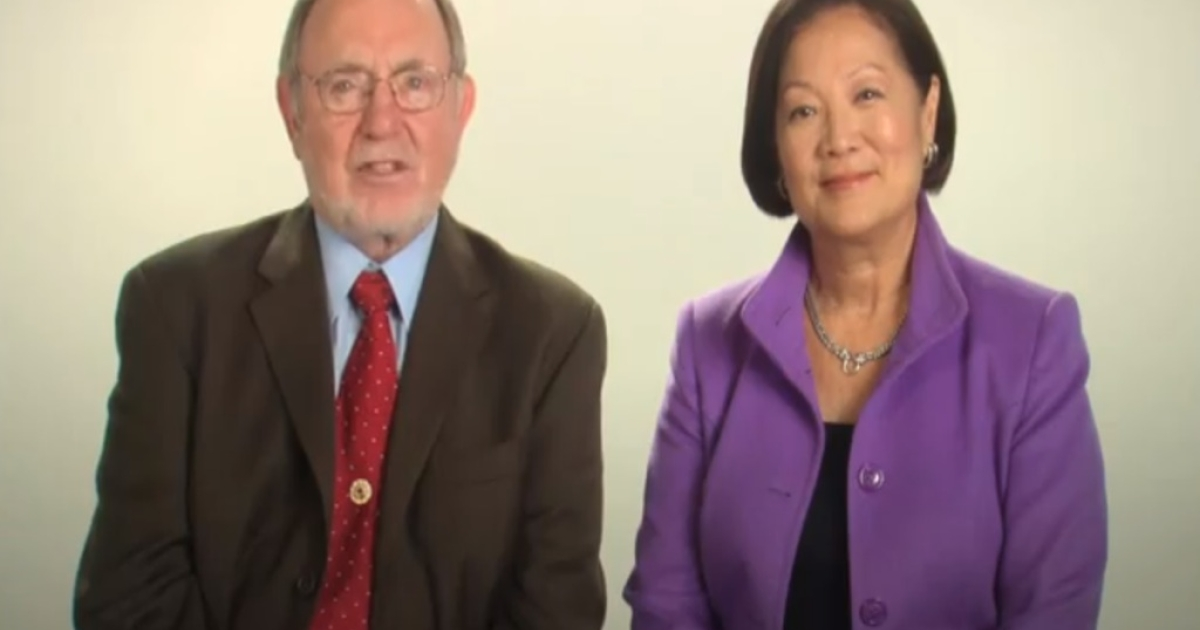 Alaska Republican Rep. Don Young endorses Hawaii Democratic Rep. Mazie Hirono in a campaign ad.</p>