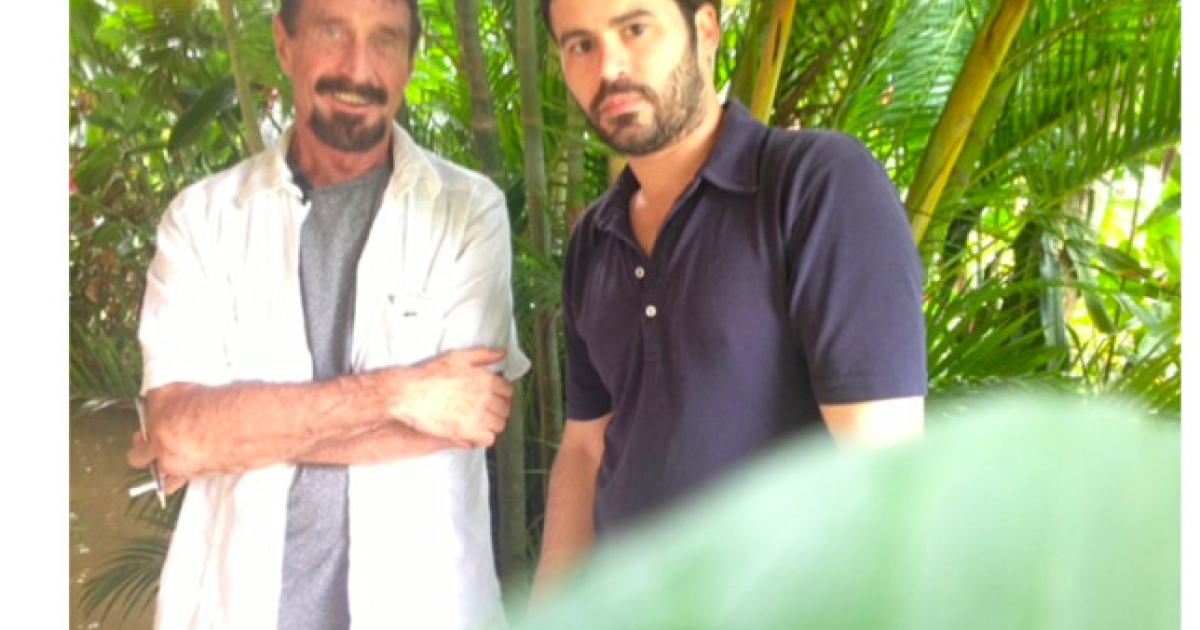 American magazine Vice claims to have posted a photo of John McAfee in Guatemala giving away his exact location.</p>