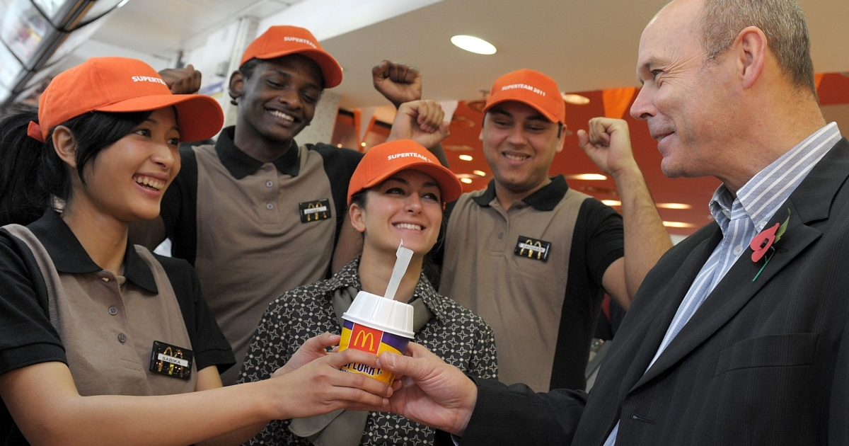 McDonald's select their Olympic Champion Crew to work in their Olympic Park restaurants at London 2012.</p>