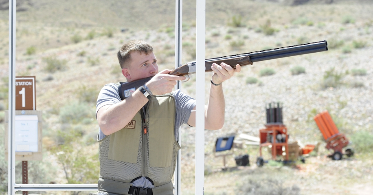 Former United States Marine Dakota Meyer attends the NRA Country/ACM Celebrity Shoot hosted at Nellis Air Force Base in Las Vegas, Nevada. On September 15, 2011, Meyer will receive the Medal of Honor from U.S. President Barack Obama.</p>
