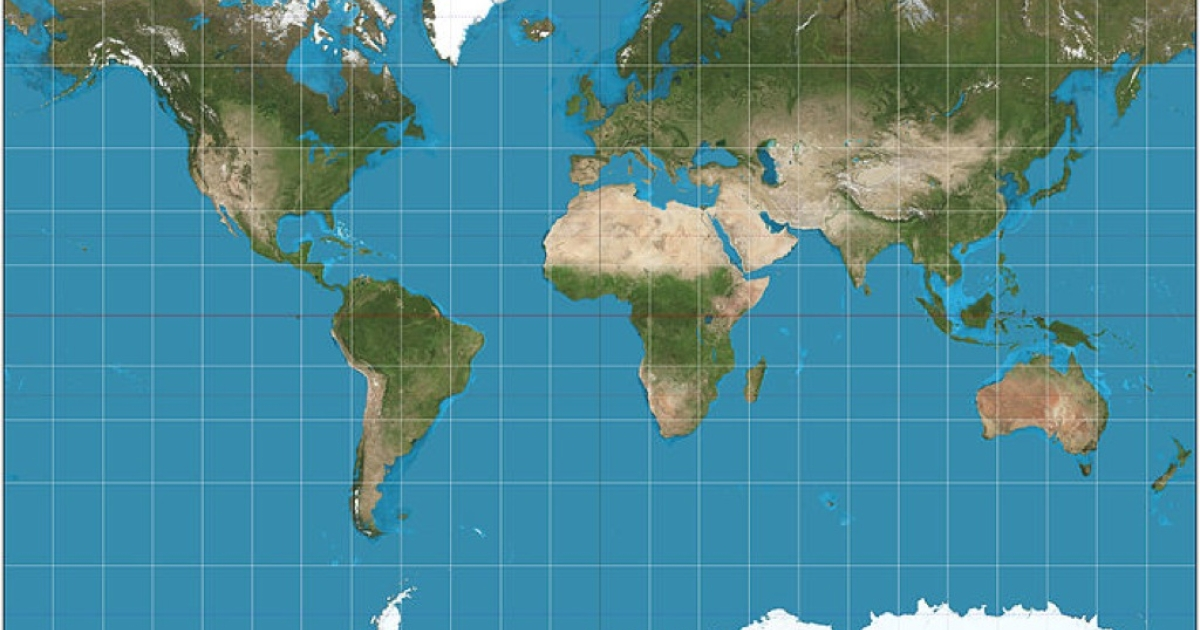 A modern Mercator projection.</p>