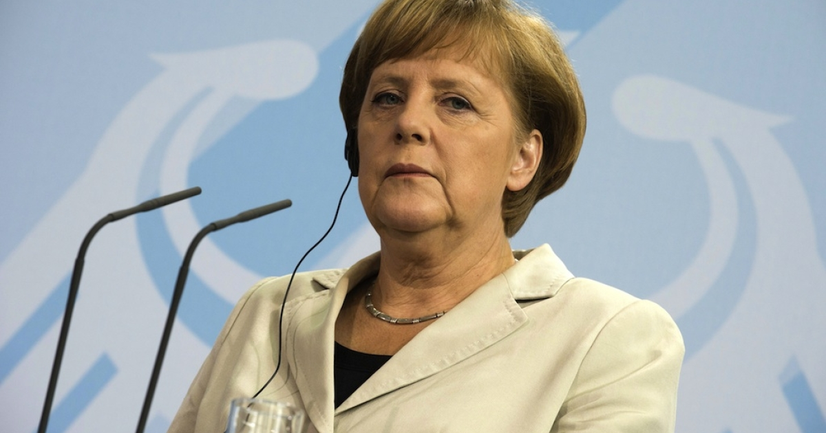 German Chancellor Angela Merkel addresses a press conference at the chancellery in Berlin June 8, 2012. Merkel met with New Zealand's Prime Minister John Key. Merkel said that Spain had not yet requested funds from the EU bailout pot to come to the aid of its stricken banks and that only the Spanish government could do so.</p>
