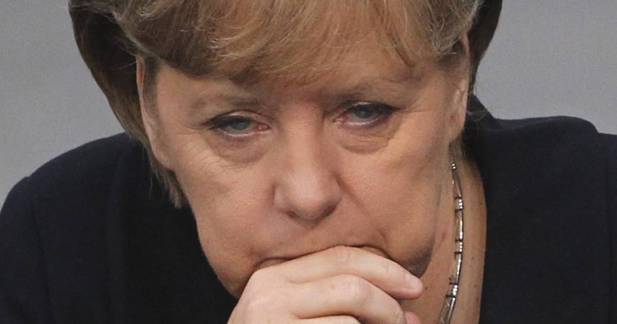 Angela Merkel prepares to tell the German Bundestag the only way out of the euro mess is through deeper fiscal ties with their more profligate European partners.</p>