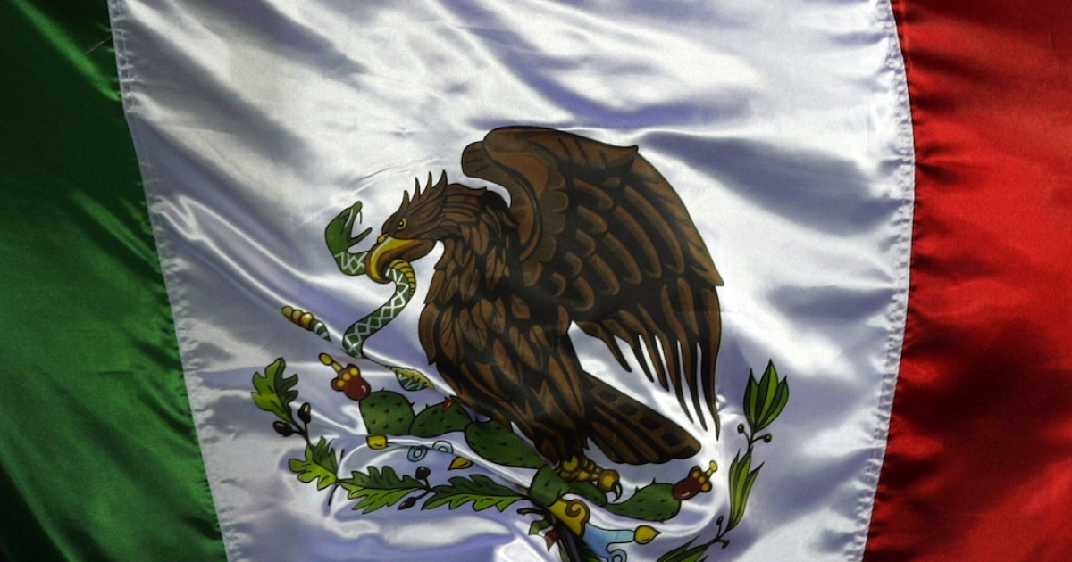 The Mexican flag.</p>