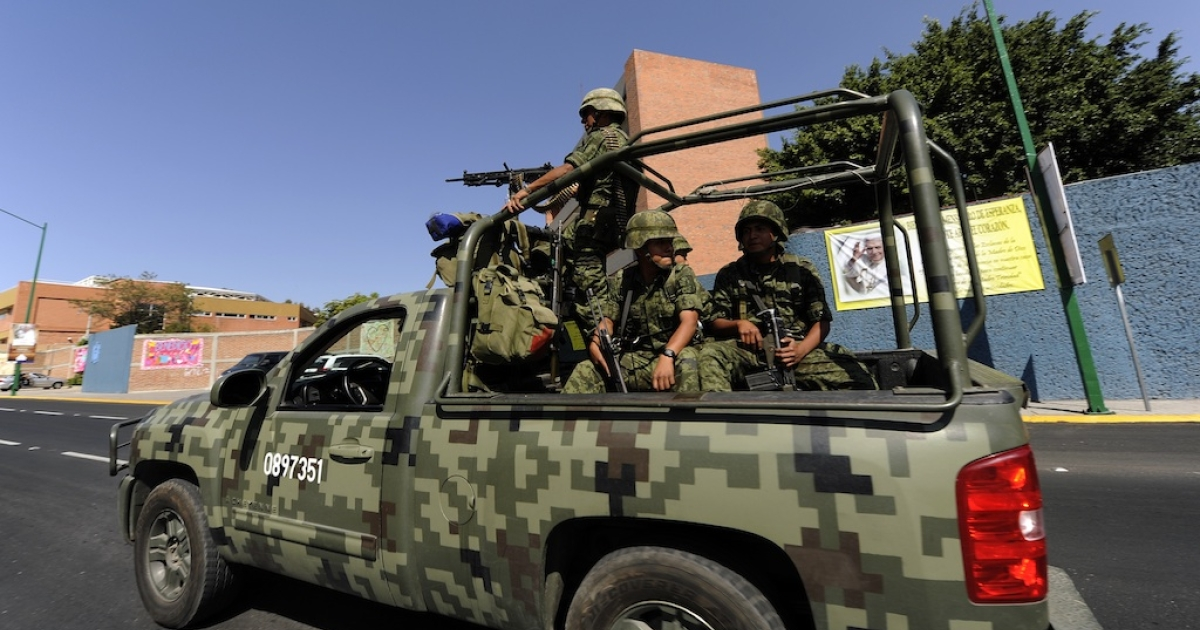 Mexican soldiers have played a key role in the war on drugs.</p>