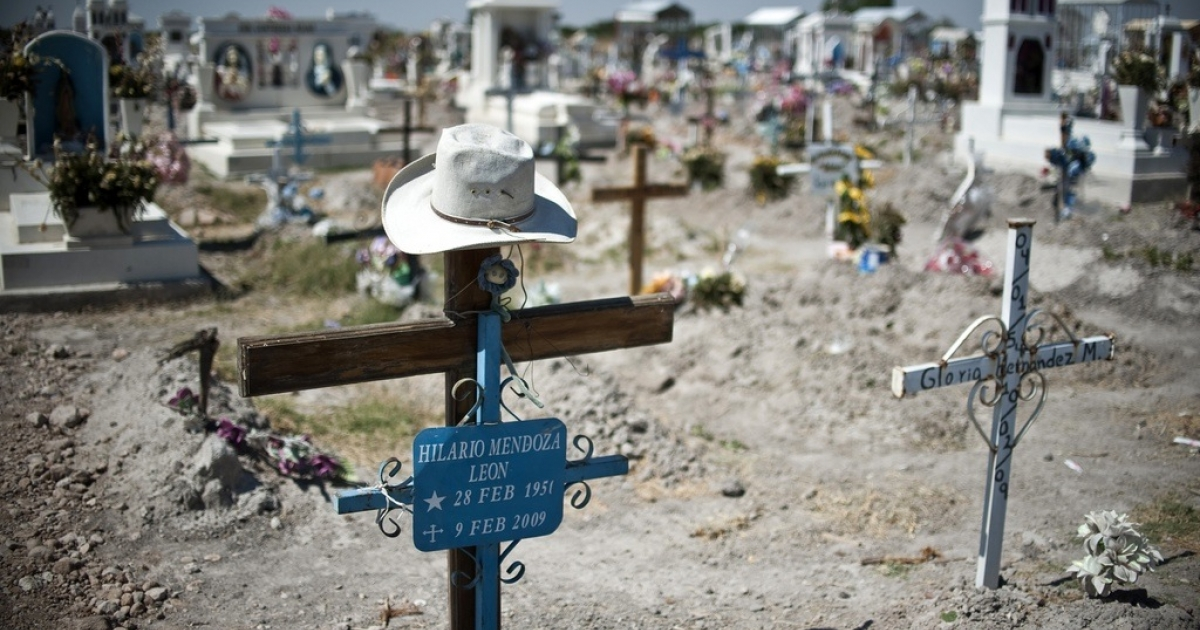 A cemetery in Durango, where drug war victims are buried, May 16, 2011.</p>