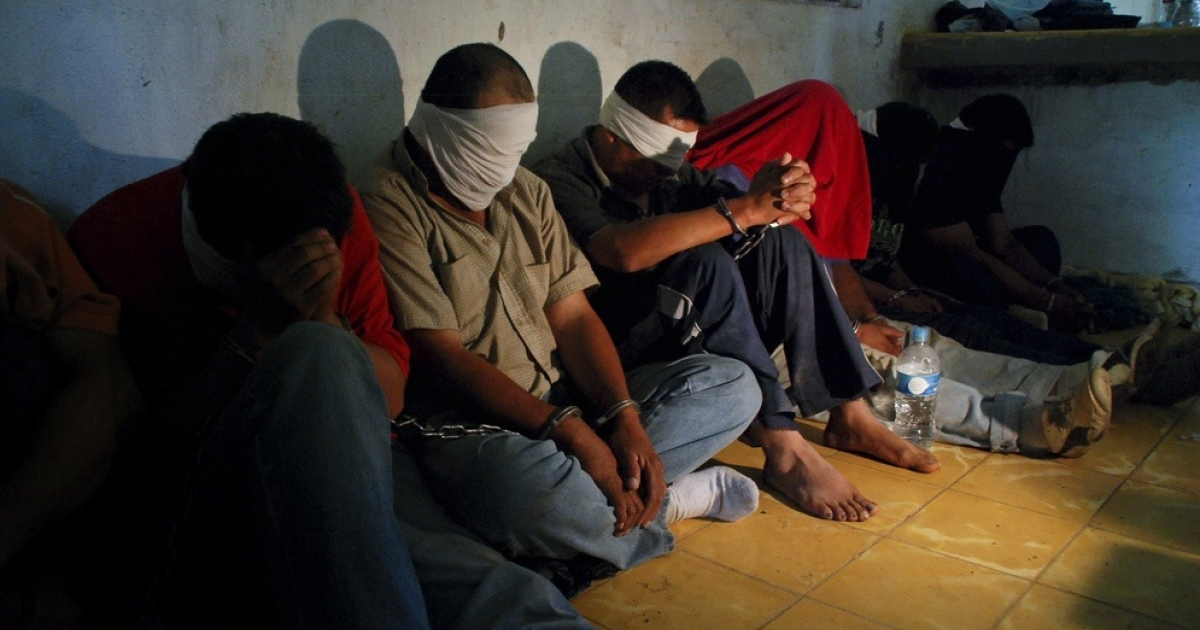Kidnapping victims rescued by the Mexican Army.</p>