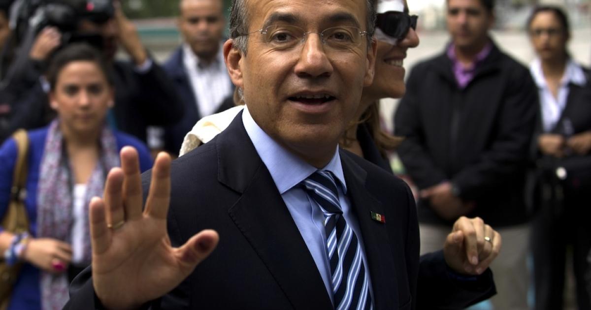 Mexican President Felipe Calderon.</p>