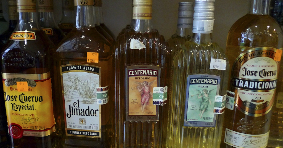 Tequila for sale in a store in Mexico. Inmates at a prison in Chihuahua state, northern Mexico, had access to a bar that served tequila, beer and vodka.</p>