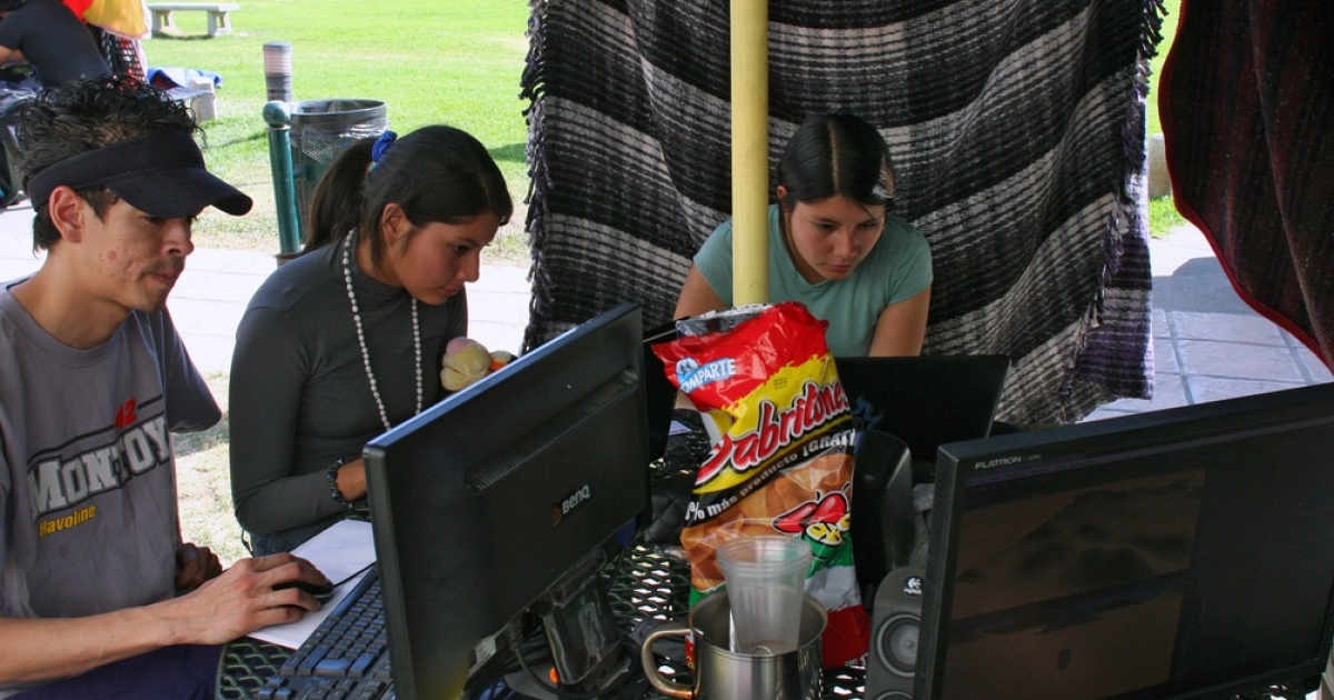 Mexican video game masters work on a new video game during the Global Game Jam competition in Guadalajara, Mexico on January 28, 2012. The competition takes place once a year in more than 170 cities around the world to develop a new video game in 48 hours.</p>