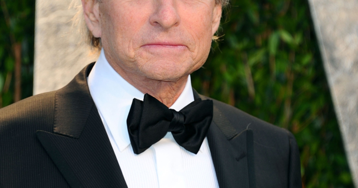 Actor Michael Douglas, pictured here the 2012 Vanity Fair Oscar Party.</p>