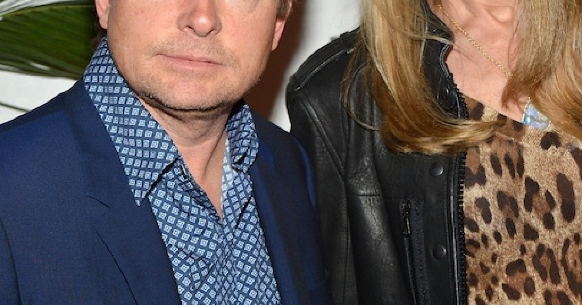 Michael J. Fox and his wife, Tracy Pollan, attend Marvel's