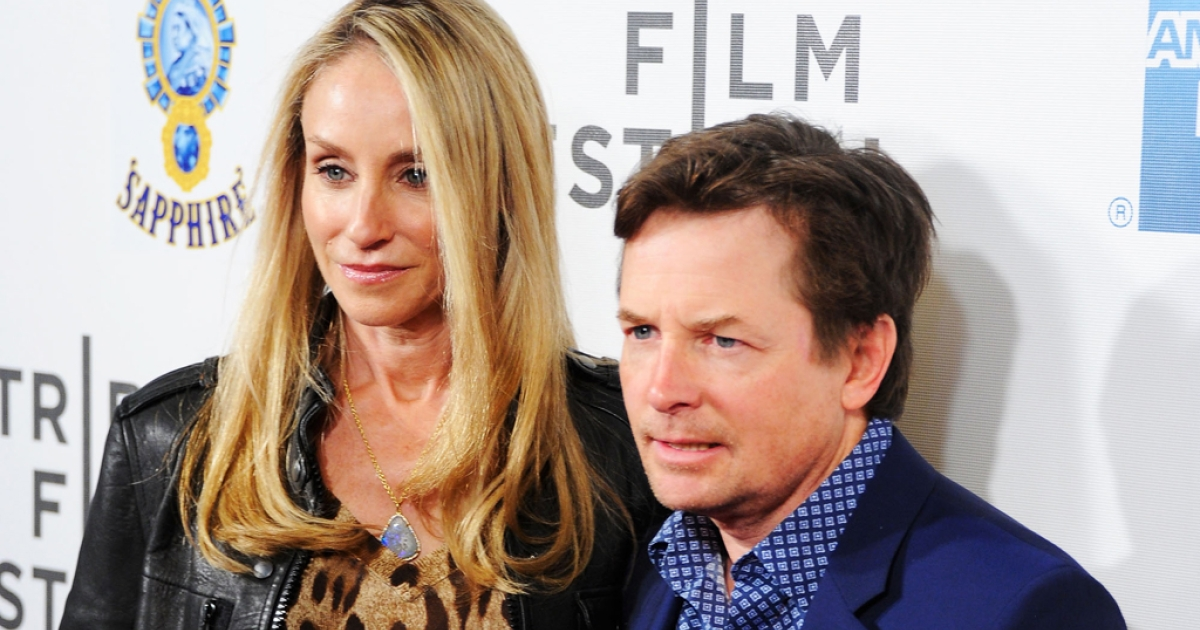 Actors Tracy Pollan and Michael J. Fox attend