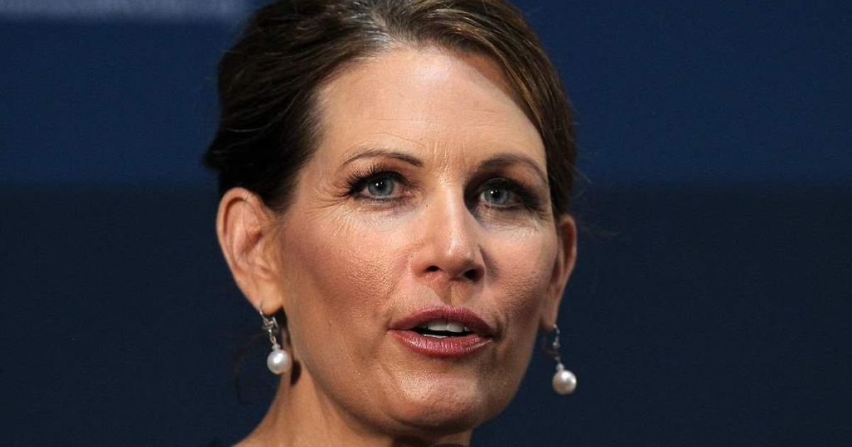Rep. Michele Bachmann (R-MN) and Republican candidate for president speaks at the Commonwealth Club of California on October 20, 2011 in San Francisco, California.</p>