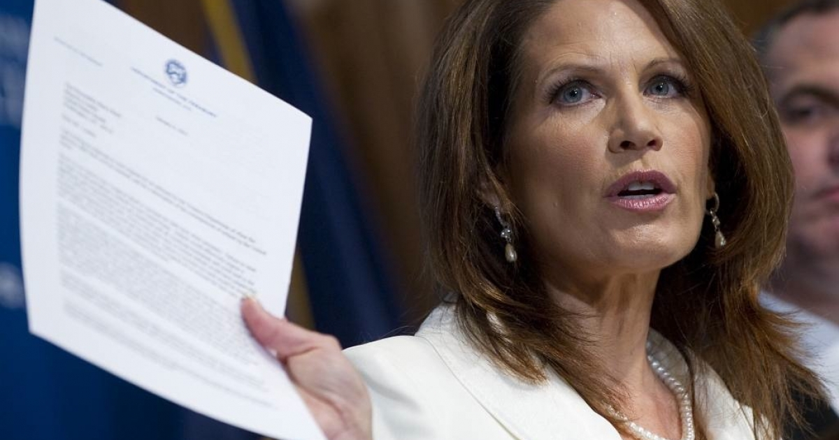 Republican presidential hopeful, Michelle Bachmann, predicts if President Obama decides to use the powers of the 14 Amendment to solve the debt ceiling crisis, there will be an immediate call for impeachment.</p>