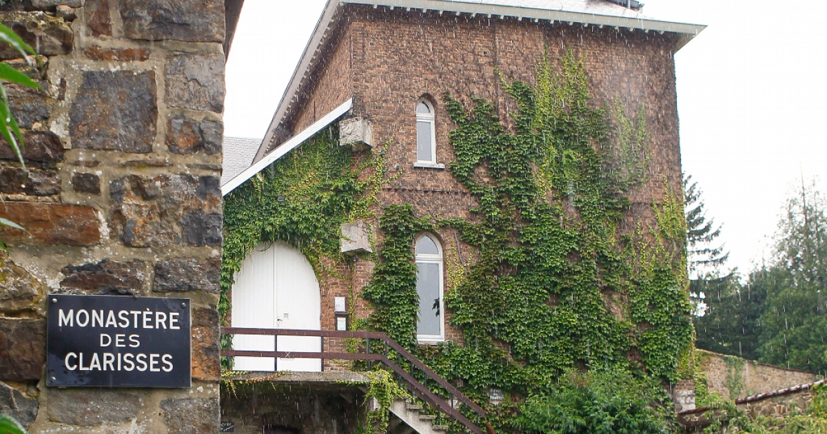 The entrance to the convent of the order of nuns known as the Poor Claires in Malonne. Michelle Martin, the ex-wife and accomplice of notorious paedophile killer Marc Dutroux, will be allowed to live here after a court granted her