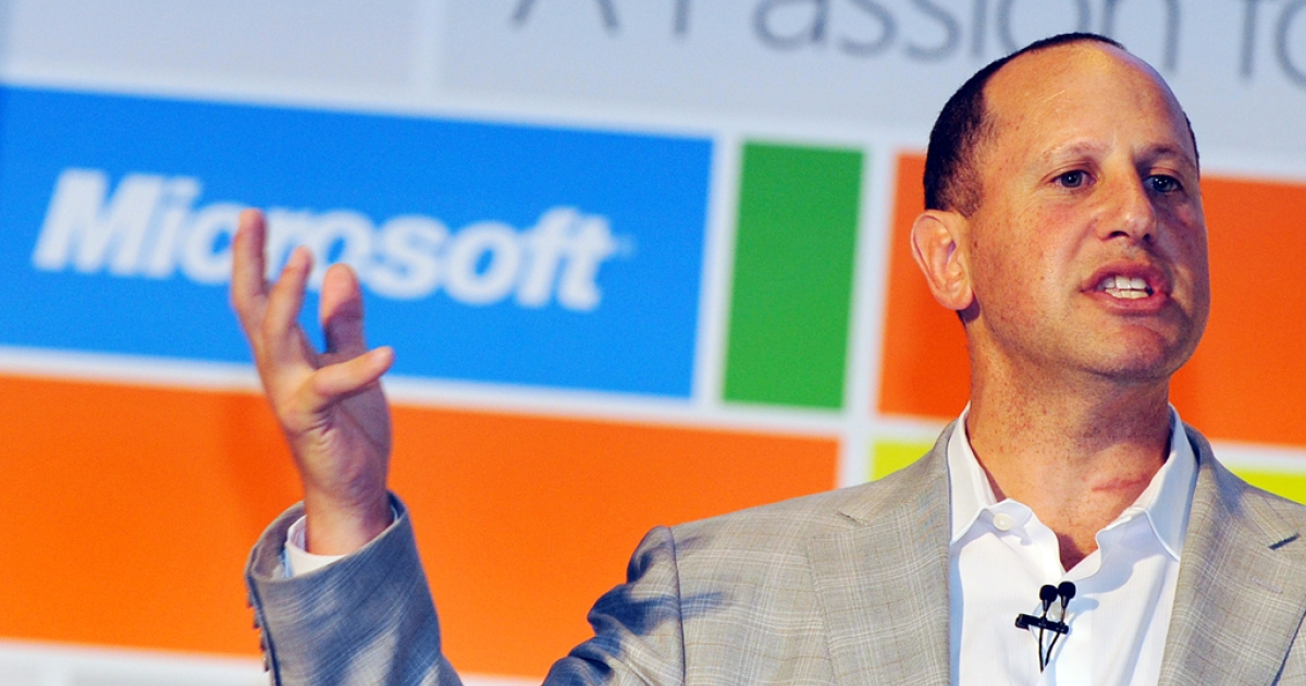 Steven Guggenheimer, Microsoft Corporate Vice President of the Original Equipment Manufacturer Division on June 6, 2012. Microsoft officially agreed to buy corporate social networking site Yammer for $1.2 billion on June 25, 2012.</p>