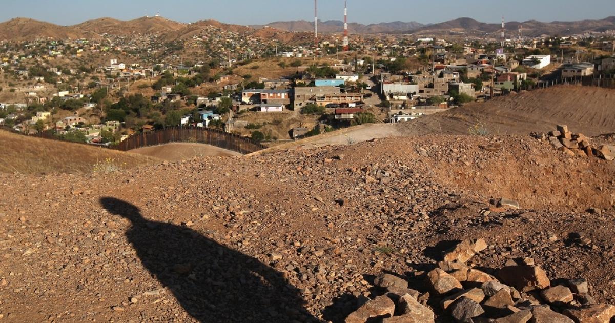 The US-Mexico border near Nogales, Arizona.</p>