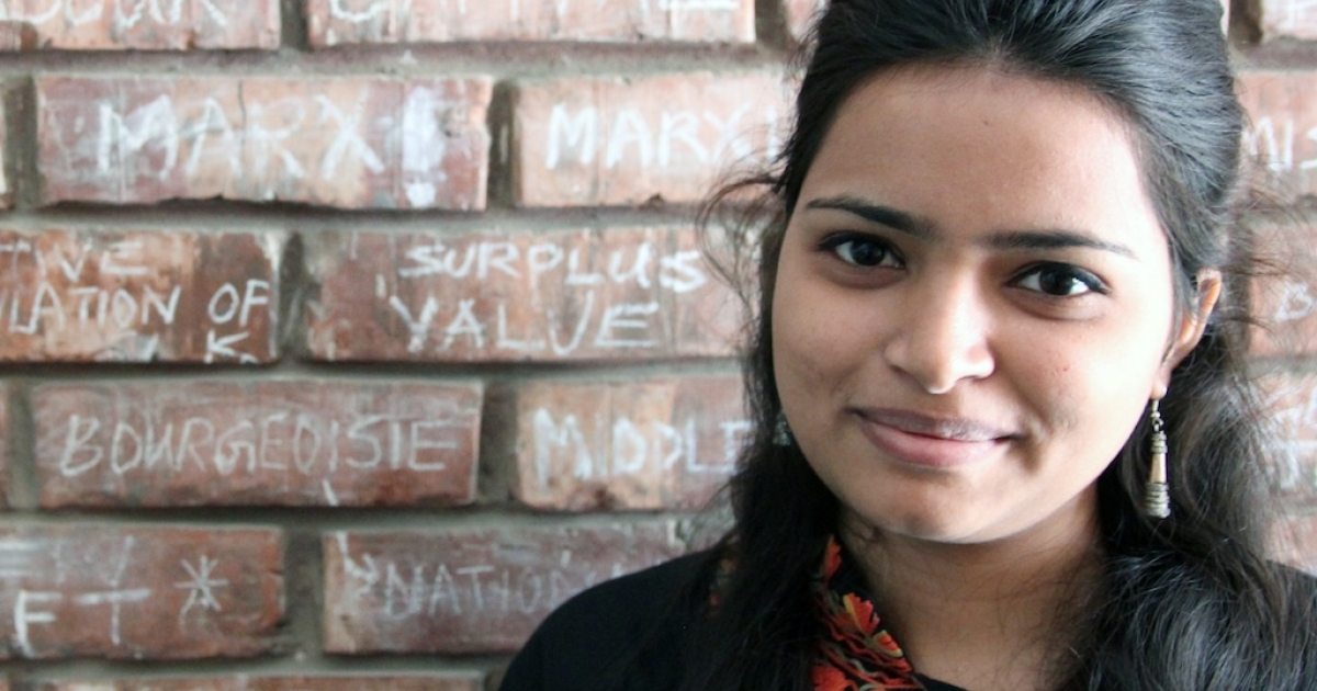 Minakshi Barman, 22, is studying for her master's degree. She said she believes that failure to act when encountered with domestic violence is something that affects all of Indian society, no matter the caste.</p>