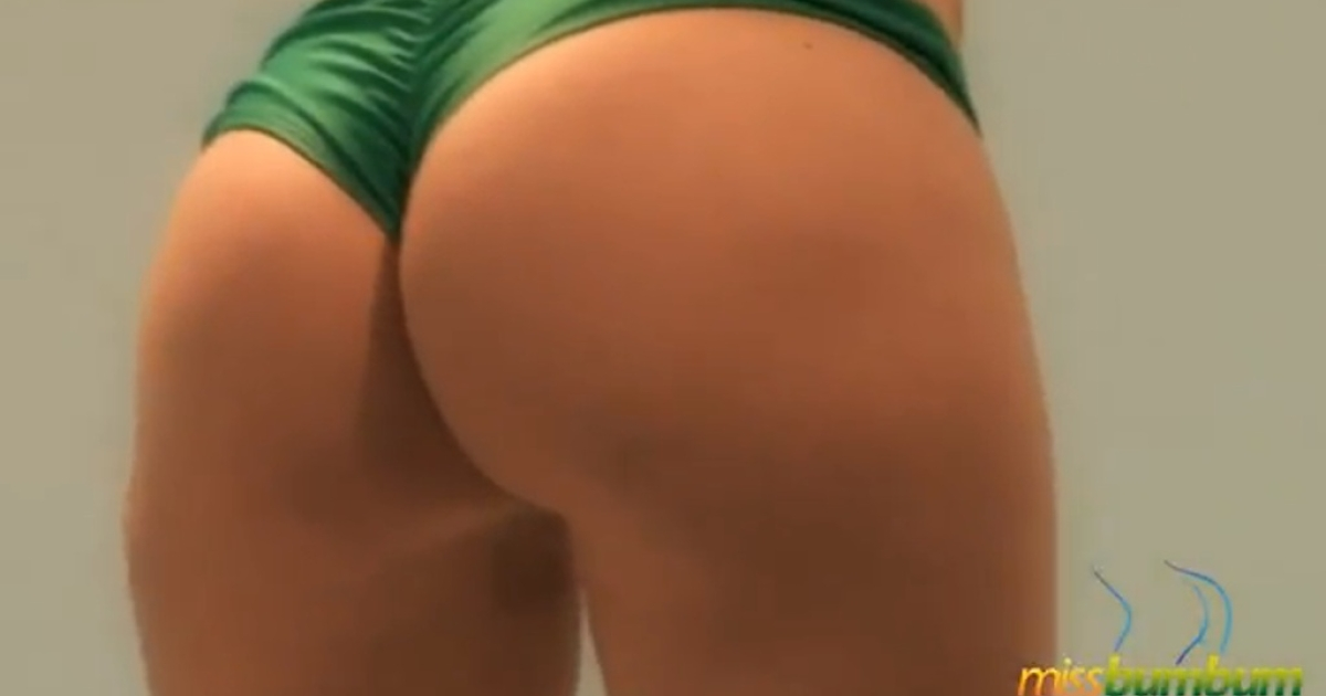 One of 27 contestants in the Miss Bumbum Brasil 2012 pageant shows off her — ahem —