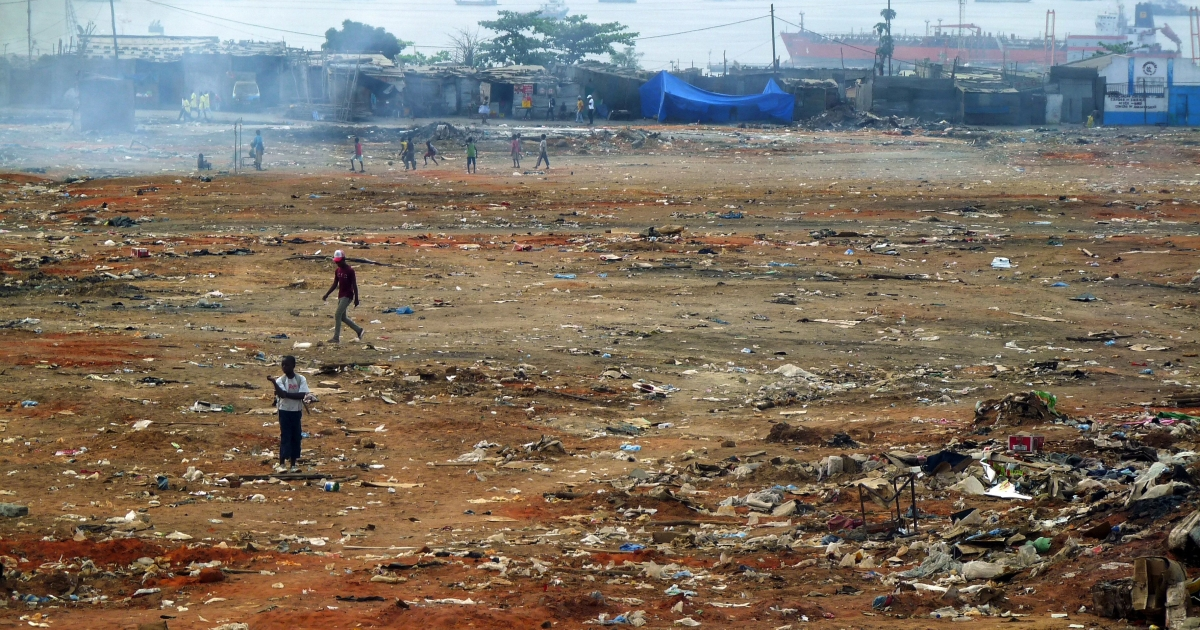 The not-so-pretty face of Angola — this shantytown in Luanda was destroyed on Sept. 5 and transferred some 15 miles away as part of a vast urban plan, leaving its one million residents scrambling for survival.</p>