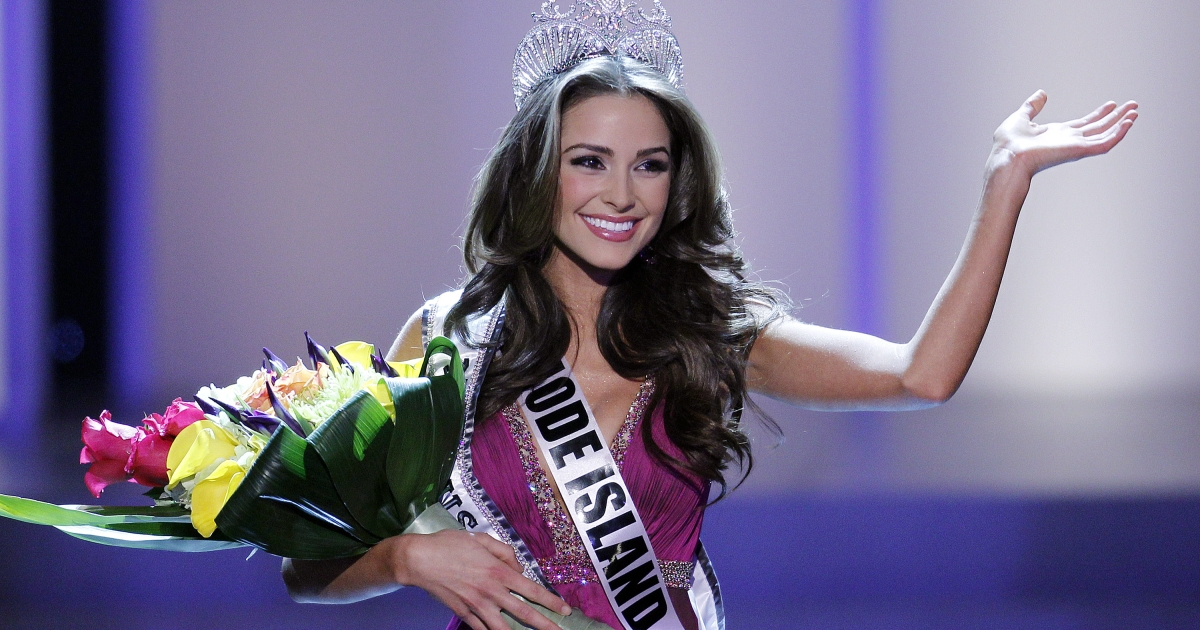 LAS VEGAS - JUNE 3:  Olivia Culpo took home the crown during the 2012 Miss USA pageant at the Planet Hollywood Resort &amp; Casino on June 3, 2012 in Las Vegas, Nevada.</p>