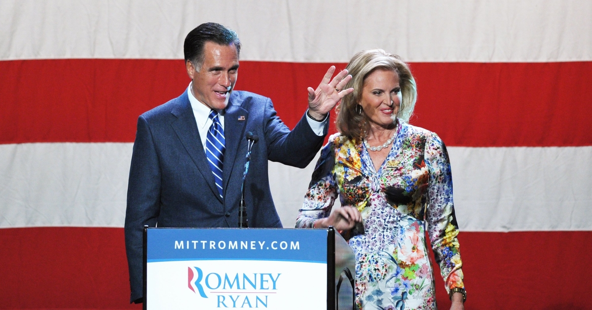 Ann Romney says she worries about her husband Mitt Romney's mental health should he win the presidential election.</p>