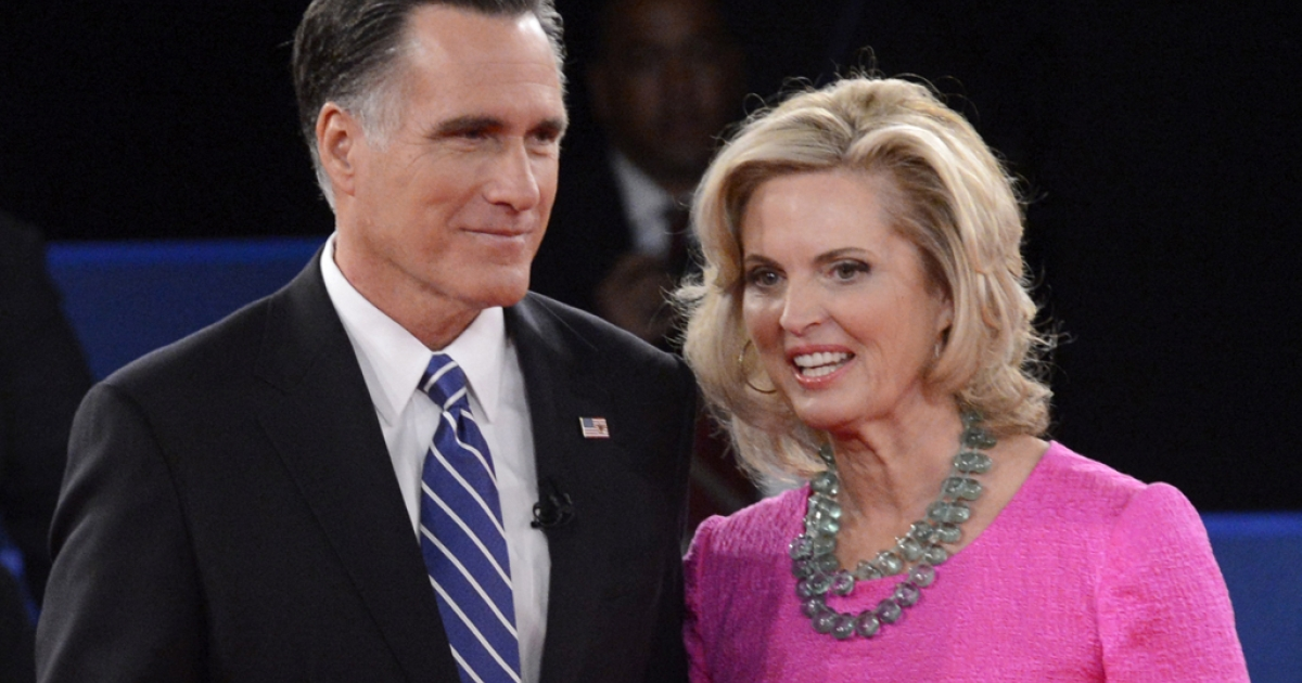 Republican presidential candidate Mitt Romney and wife Ann Romney's faces are being used by a website to sell Mormon undergarments.</p>