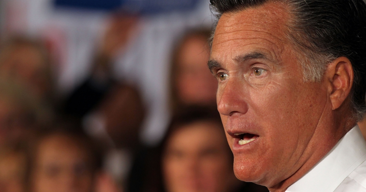 Republican presidential candidate and former Massachusetts Governor Mitt Romney speaks to supporters on April 11, 2012 in Hartford, Connecticut. Romney is offering special access to an