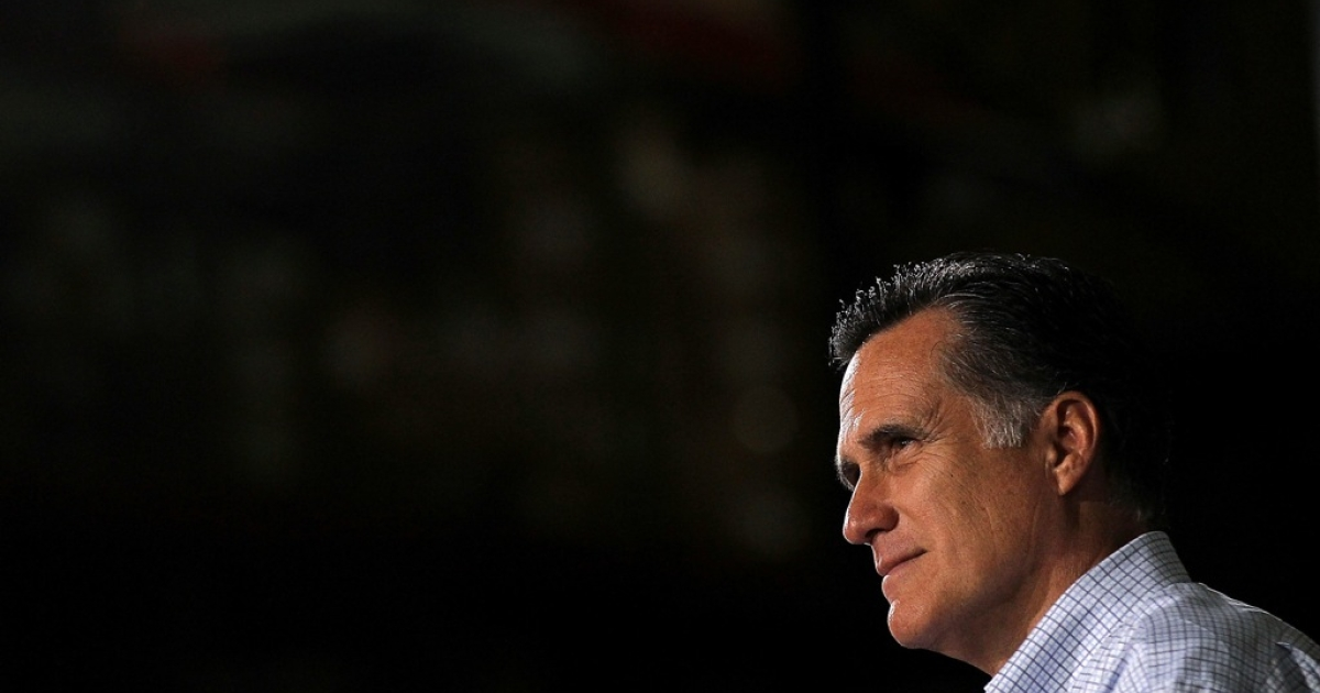 Republican presidential candidate, former Massachusetts Gov. Mitt Romney attends a town hall style meeting at Moore Oil on April 2, 2012 in Milwaukee, Wisconsin. With one day to go before the Wisconsin primary, Mitt Romney makes a final push through the state</p>