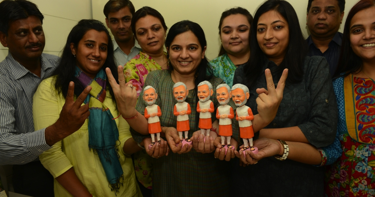 Left-leaning social activists call him a fascist. But Gujarat Chief Minister Narendra Modi may be the only Indian politician popular enough to warrant his own bobblehead doll.</p>
