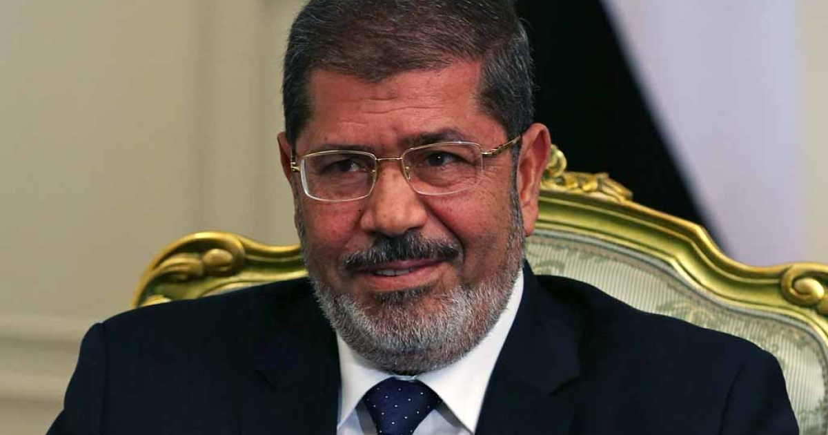 Egyptian President Mohamed Morsi at the Presidential Palace on July 31, 2012 in Cairo.</p>