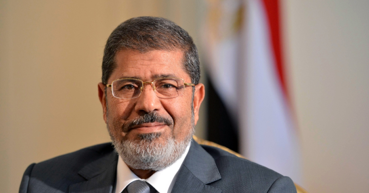 Egyptian President Mohamed Morsi in Cairo, Egypt on July 8, 2012.</p>