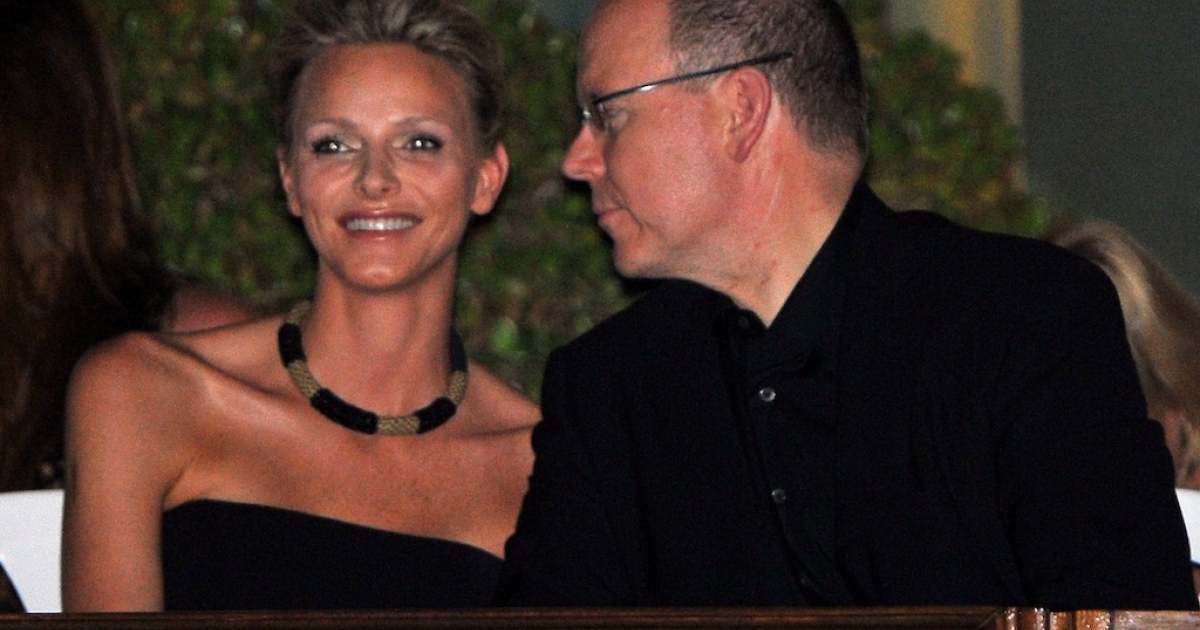 Charlene Wittstock and Prince Albert II of Monaco attend a concert by The Eagles at Louis II Stadium to celebrate their royal wedding on June 30, 2011 in Monaco.</p>
