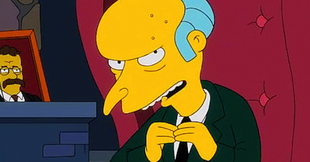 Mr. Burns has a few excellent things to say about the fiscal cliff.</p>
