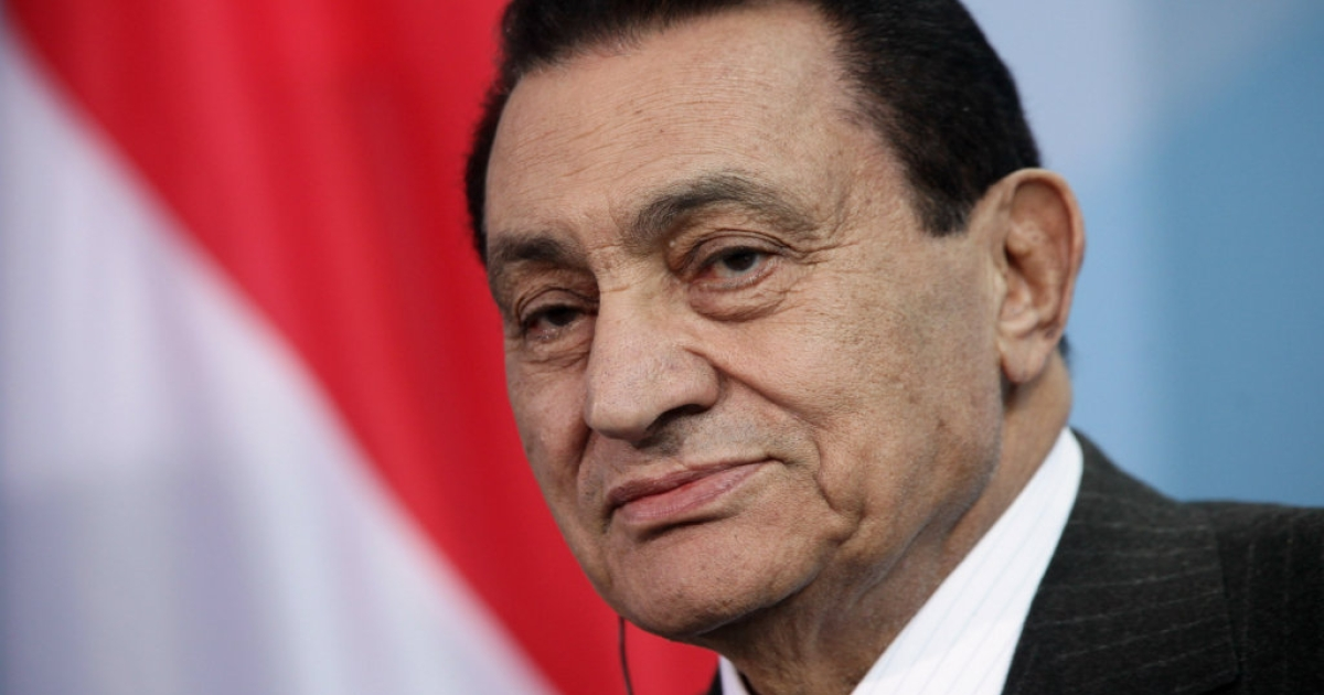 Former Egyptian President Hosni Mubarak.</p>