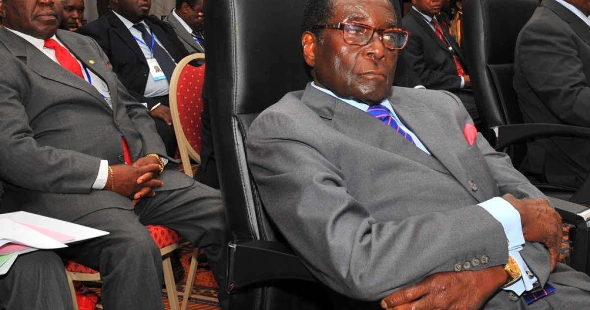 Zimbabwe's President Robert Mugabe sent a policeman to jail for using a toilet that was reserved for presidential use. Here Mugabe attends the opening session of the Southern African Development Community (SADC) summit in Windhoek, Namibia on May 20, 2011.</p>
