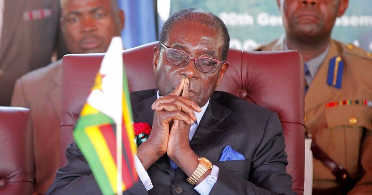 Zimbabwean President Robert Mugabe, 88, in Victoria Falls at the ceremony announcing that Zimbabwe and Zambia will co-host the UN World Tourism Organization General Assembly in August, 2013.</p>