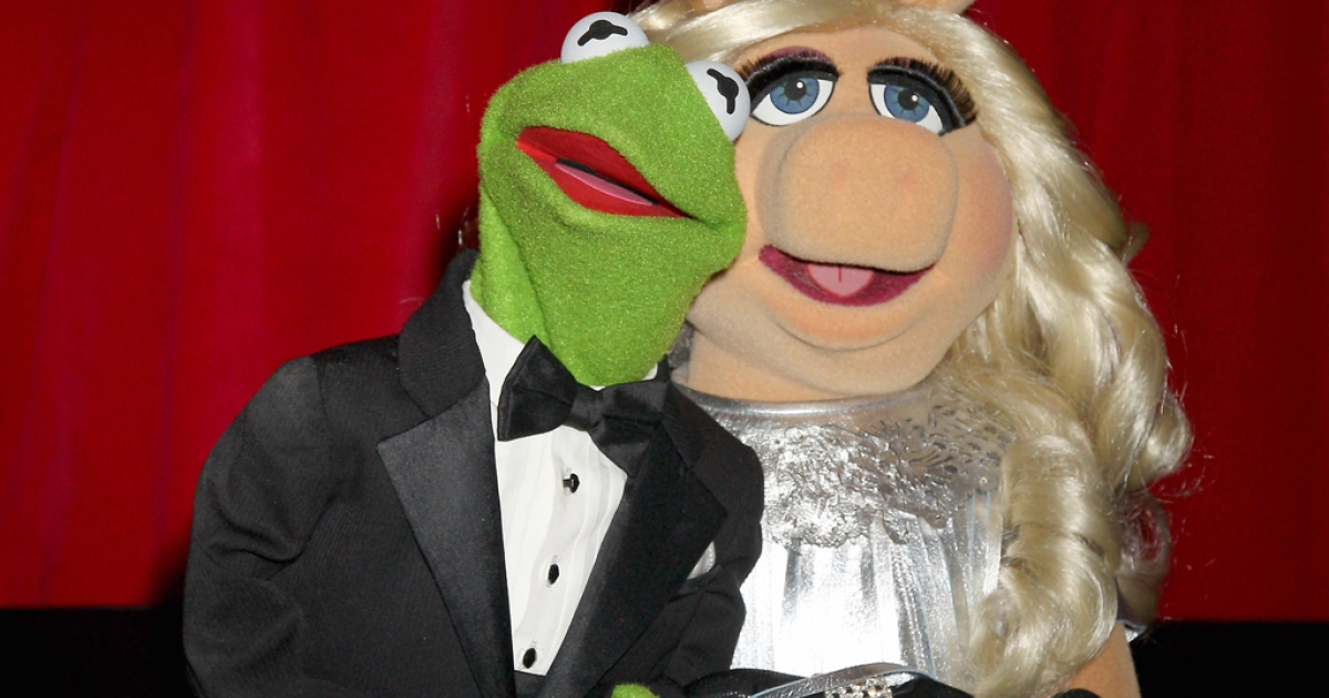 Kermit the Frog and Miss Piggy attend the UK Premiere of The Muppets at The Mayfair Hotel on January 26, 2012 in London, England. The Muppets shot back at Fox News after a host on the network accused The Muppets Movie of having a