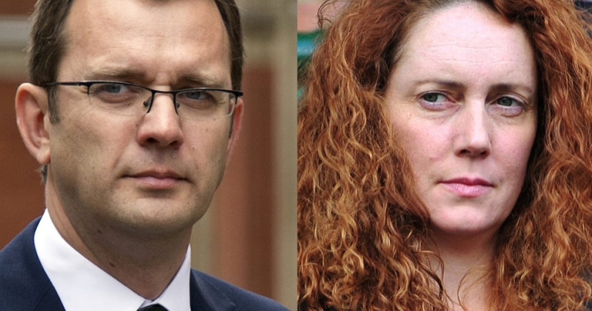 Revelations from criminal proceedings against Andy Coulson (L) and Rebekah Brooks may make David Cameron vulnerable ahead of general elections in 2015.</p>