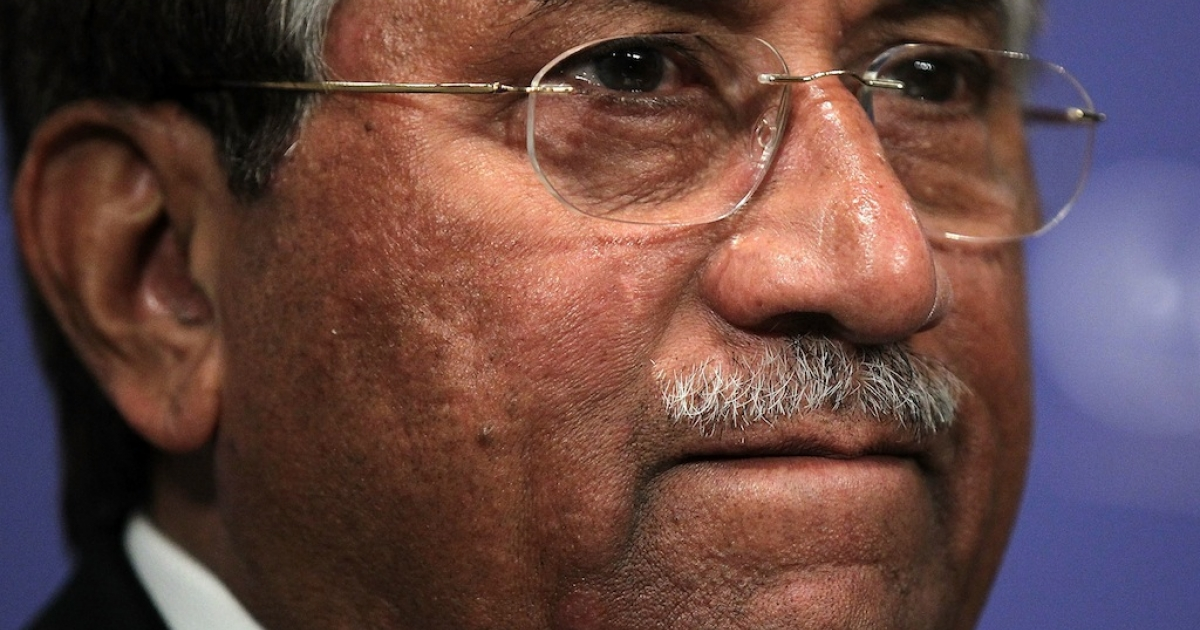 Former Pakistan President Pervez Musharraf prior to speaking at The Carnegie Endowment for International Peace October 26, 2011 in Washington, DC.</p>