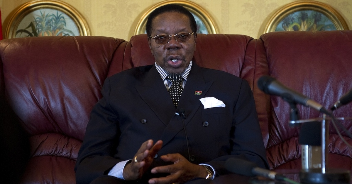 President Bingu wa Mutharika in Malawi's capital Lilongwe in July 2011.</p>
