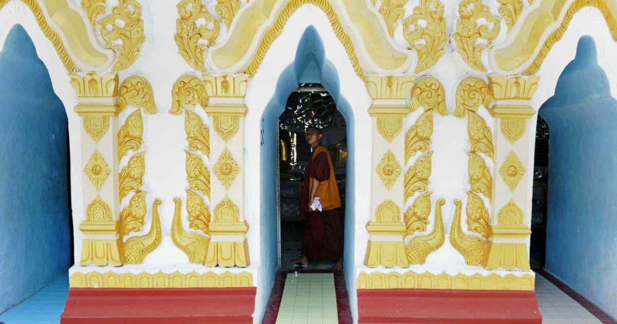 A monk visits a pagoda in Mandalay on May 29, 2012 . The International Monetary Fund said on May 7 that Myanmar could be Asia's next boom economy if the country sticks to its new path of political and economic reforms.</p>