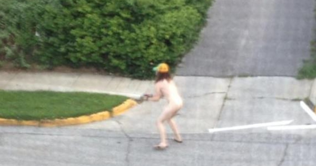 Naked gunman Corey J. Hamersley was caught on camera by neighbor Nicole Stone as he ran through an Indiana neighborhood shooting into the air and at cars and houses Friday morning.</p>