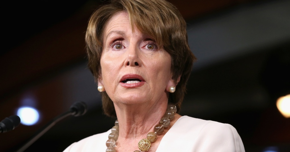 House Minority Leader Nancy Pelosi (D-CA) holds her weekly news conference in the Visitors Center at the U.S. Capitol July 26, 2012 in Washington, DC.  Kevin Michael Hagan, 21, is suspected of robbing the congresswoman's house this week.</p>