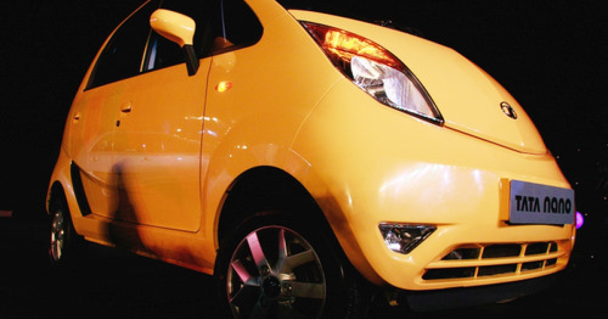 Shown here at the March 23, 2009 launch in Mumbai, the Tata Nano created a media sensation. But the world's cheapest car has been plagued with problems from the beginning.  Now Tata Motors is recalling about 140,000 Nanos so that the starter can be replaced -- a move that may cost the company as much as $22 million.</p>