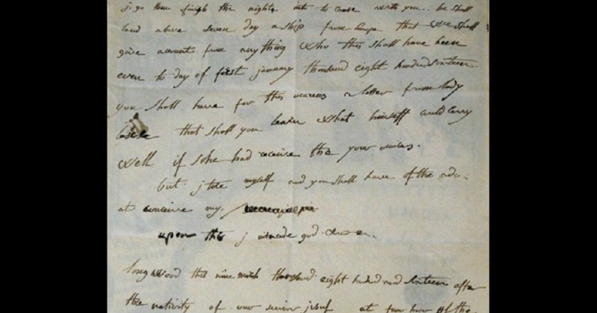 The one-page letter is dated Mar. 9 1816 and was sent by Napoleon from exile in Saint Helena to his English teacher.</p>