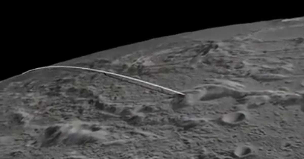 A screengrab from a video showing the projected path of the twin probes NASA will crash into the moon today.</p>