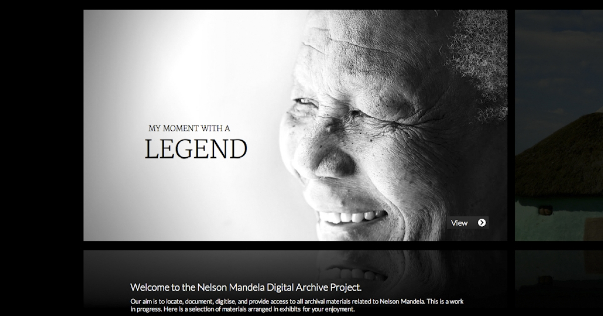 The Nelson Mandela Digital Archive was launched online March 27, 2012, from Johannesburg, South Africa. The collection of documents, photos and videos is available free to the public.</p>